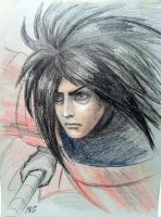 Madara in Fight by loonelybird