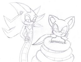 Naga Shadow and Rouge Sketch by lol20