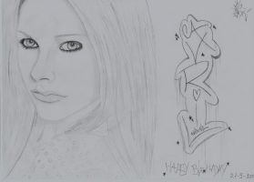 Avril Lavigne drawing 9 by moesa23