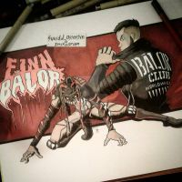 Finn Balor Commission  by suicidalassassin