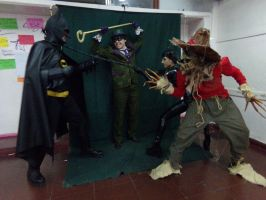 Scarecrow and friends. KILL the batman! by ERINAND