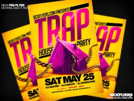 Trap House Party Flyer PSD by Industrykidz