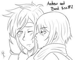 Andrew and Basil Kiss #2 by iPsychopath
