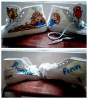 AT: Finn/Fionna Sneakers by Tsuki-Yue