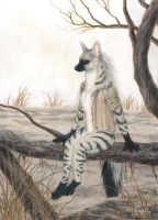 Aardwolf Anthro by Seaff