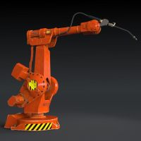 industrial robot-welder (3d object ) by viiik33