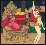Ariel and Mowgli Enslaved by King Louie by jazz316