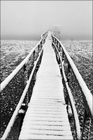 winter on the pontoon by Tom-Ripley