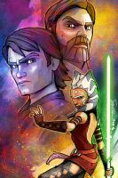 Clone Wars 'The Jedi' by SteveAndersonDesign