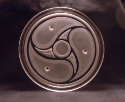 Spiral Celtic Candle Plate by ImaginedGlass