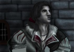 Young Ezio WIP by AnsticeWolf