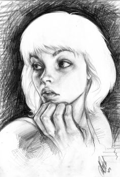 Pencilled Self Portrait by Carliihde