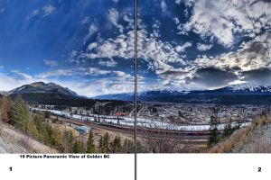 Photo Book Golden BC Panoramas 1-2 by Joe-Lynn-Design