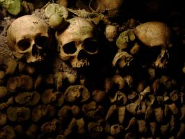 Parisian Catacombs by medievalfaery