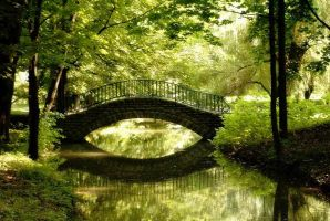 Bridge in a park by VulpesPL