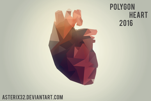 Polygon Heart by asterix32