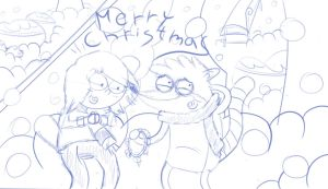 Rigleen Christmas (Sketch!) by JessieLover
