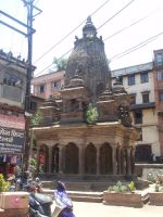 Temples in the center of city life 02 by Woolfred
