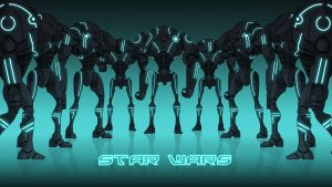 Super Tron Battle Droids by Xennethy