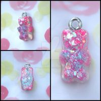 Sparkle Gummy Bear Charm by RuusuMorningstar
