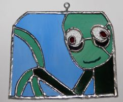 Salad Fingers stained glass by AG88