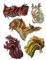 Dragon-heads by Onikaizer