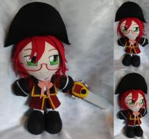 Commission, Plushie British Grell Sutcliff by LadyoftheSeireitei