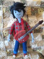 My Needle Felted Marshall Lee and His Bass by CatsFeltLings