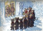 Wind in the Willows: Christmas Choir Sketch by RuntyTiger