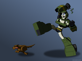 Hound plus Dog by KrisSmithDW