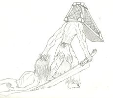 Pyramid Head by The-Laughing-Horror