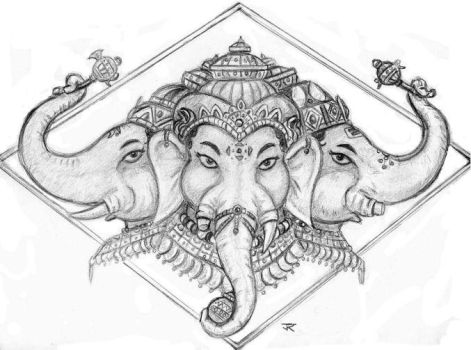 Three Faces of Ganapati by JRtheMonsterboy