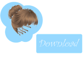 [MMD] BUN HAIR [+DL] by Sims3Ripper