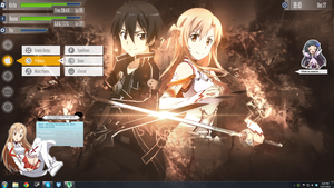 SAO Rainmeter + Wallpaper by skytotoro