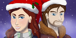 Sorena and Malte Holiday Icons (CONNECTED) by SkyBlueArts