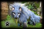 SOLD Rill the river wolf poseable art doll OOAK! by CreaturesofNat