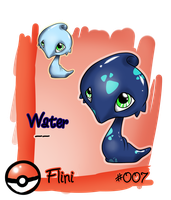 Fakemon Flini by Zusuriki