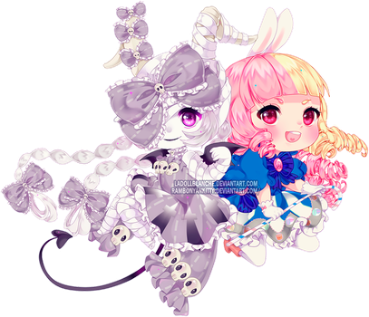 collab: Myamori and Yve by LaDollBlanche