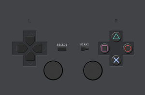 Playstation Controller Wallpaper by Struck-Br