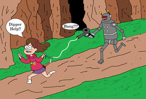 Mapel Pine and the Robot by Walnutwilly