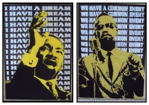 MartinLutherKing_MalcomX by sickTony