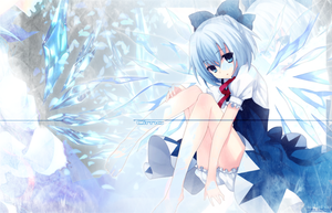Cirno (9)/ Touhou wallpaper. by Paulster30