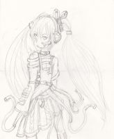 Hatsune Miku - Dubstep Outfit Design by CrypticGrin