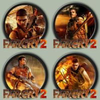 Far Cry 2 Icons by kodiak-caine