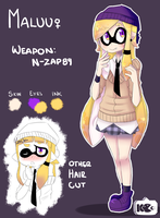 Maluu (Splatoon OC) by Kimo-Chi