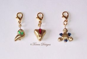 Spiritual Stones Charms Legend of Zelda OoT #7 by TorresDesigns