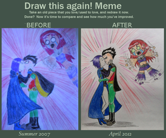 Meme: Before and after by MiuzakiOwO