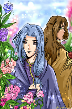 Bishie Angels-Spring Flowers by Orchidias