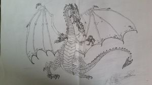 My Dragon Complete Black and White (Own Creation) by KickAss1993