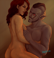 Indis and Teldryn by myks0